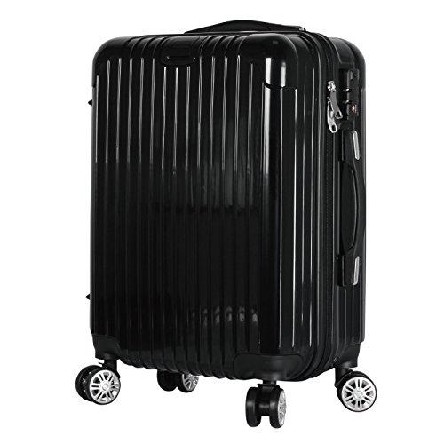 スーツケース Sサイズ/小型 ファスナータイプ BASILO-039 (ブラック, s)