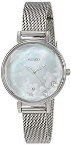 [ワイアード エフ]WIRED f 腕時計 WIRED f 白蝶貝スワロフスキー入り文字盤 メッシュバンド カットハードレックス AGEK449 レディース