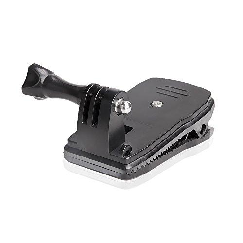 Sinvitron 360度回転式 クリップマウント GoProマウント SJCAM XIAOMI ソニー 等のアクションカメラ使用可能