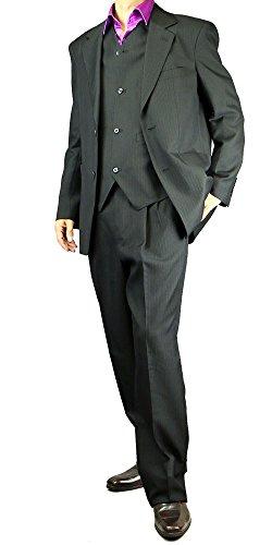 スリーピーススーツ 3ピース パーティースーツストライプ ビジネス ベスト 大きいサイズ 115851 【6】 L