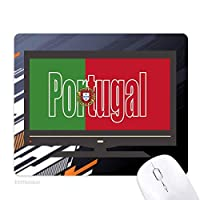ポルトガル国の旗の名 ノンスリップラバーマウスパッドはコンピュータゲームのオフィス