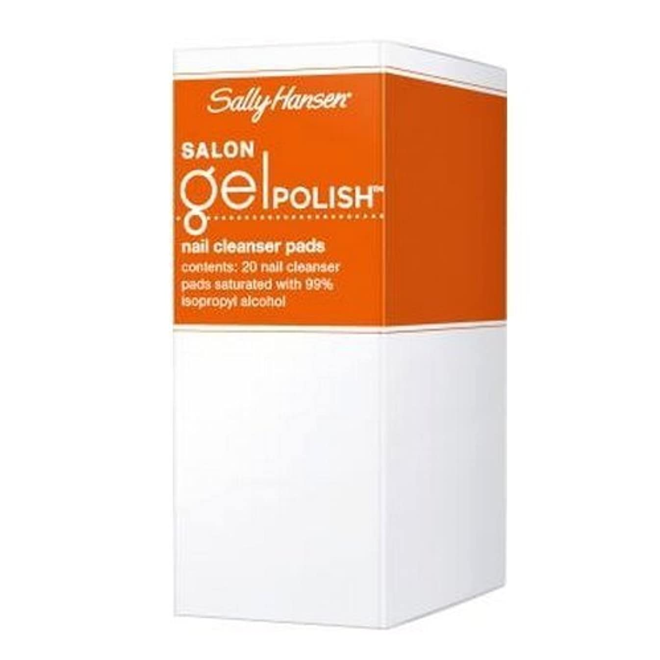 ファンブル過敏な共和国(3 Pack) SALLY HANSEN Salon Gel Polish Nail Cleanser Pads - Gel Polish Cleanser Pads (並行輸入品)