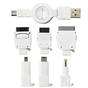 GREEN HOUSE 携帯電話 USB充電ケーブル(6コネクタ+MiniB5タイプ) GH-USB-7AD