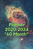 """5 Year Planner 2020-2024 """"60 Month"""": Yearly Planner Monthly Calendar"""