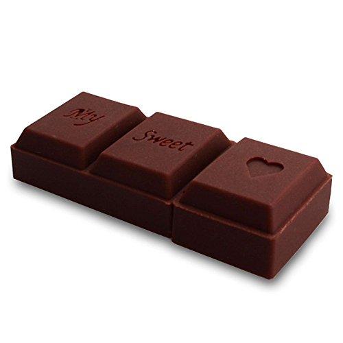 MAUMAU 16GB USBメモリ チョコレート フラッシュメモリ チョコ 記録メディア おもしろ グッズ ユニークな おもしろいUSBフラッシュメモリ バレンタイン プレゼント 最適 (・ε-。)⌒☆チョコイカガ