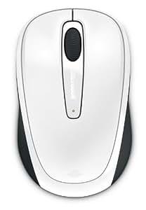 マイクロソフト マウス ワイヤレス/小型 Wireless Mobile Mouse 3500 Mac/Win USB Port Glossy White L2 GMF-00315