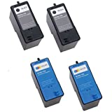(2 Black + 2 Color) Series 5 Hi-Yield Remanufactured Ink for M4640 M4646 Dell All-in-One 922 / 942 / 962 / 924 / 964 / 944 Printer by Unknown