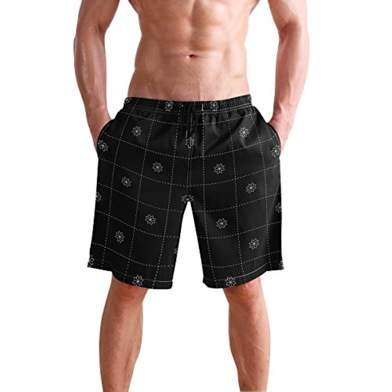 VAWA 水着 メンズ サーフパンツ おしゃれ ビーチパンツ 海水パンツ 短パン 吸汗速乾 大きいサイズ 水陸両用 花柄 チェック柄 和風 和柄