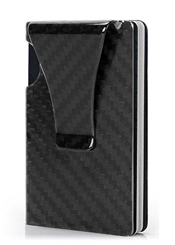 TOTOBAY マネークリップ カードケース カーボン製 超軽量で大容量 RFID&磁気スキミング防止 カードと紙幣収納可