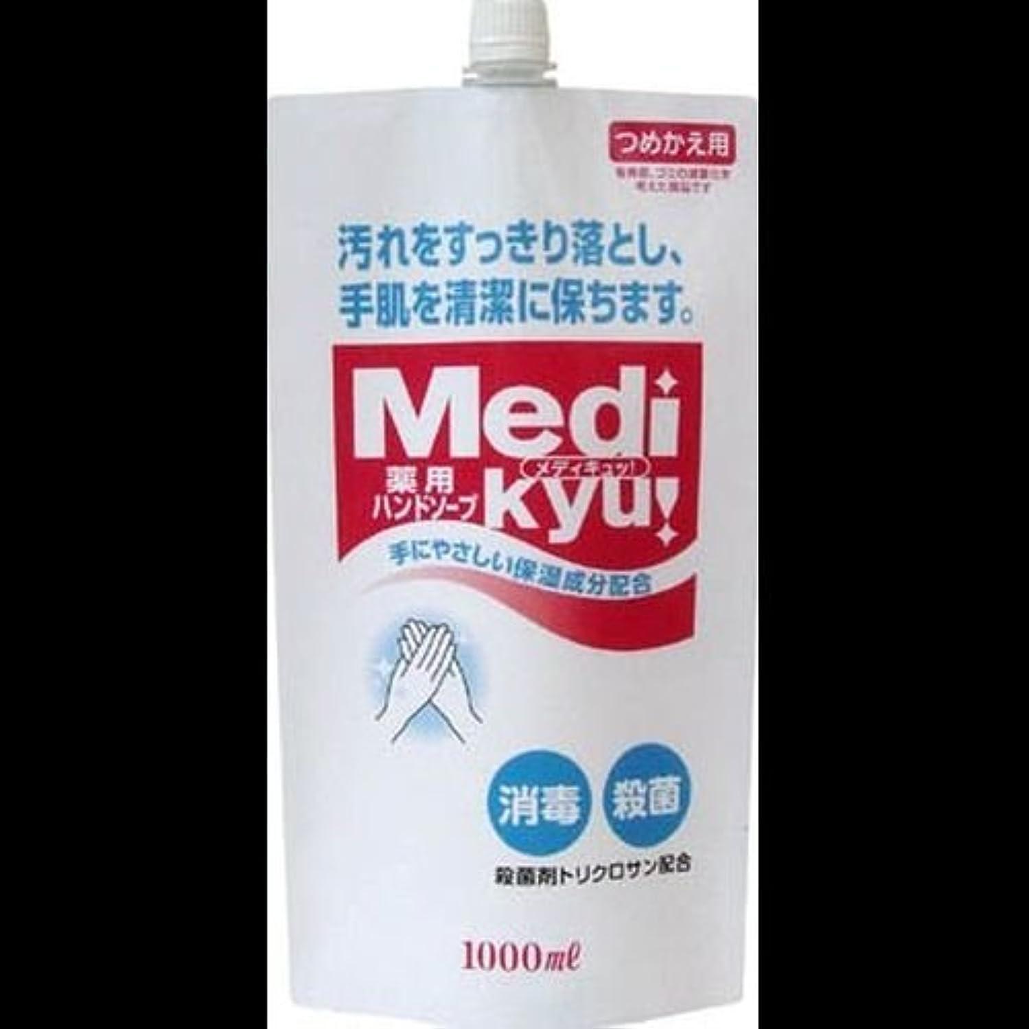 漂流生むディプロマ【まとめ買い】薬用ハンドソープ メディキュッ 詰替用 1000ml ×2セット