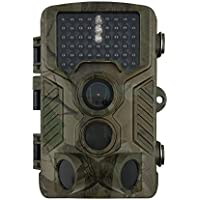 OSEI トレイルカメラ 野生動物調査用野外監視カメラ 暗視カメラ 狩猟モニターカメラ 240日超長待機 2.4インチ液晶 12M画素 46個赤外線LEDライト 25M検知距離 日本語操作対応 日本語取扱説明書あり