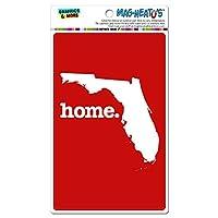 フロリダフロリダ州ホーム州 MAG-NEATO'S(TM) ビニールマグネット - 固体赤