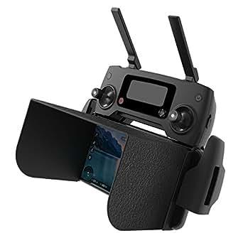 N.ORANIE DJI Spark / MAVIC Pro 日除けフード スクリーンサンシェード 折り畳み式 モニターサンシェード 携帯 / タブレッ ト スクリーン 5サイズ 軽量 Phantom 3 / 4 / 4 Pro / Inspire 1 Raw 対応 128mm ブラック 5.5インチ