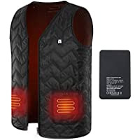 ARRIS 充電式電熱ベスト 電熱服 ヒーターウエア 防寒着 40℃~80℃ 5段温度調整 サイズ調整可能 7.4Vバッテリー付き 十分な暖かさ
