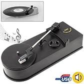 音源 を パソコン への 取り込み 可能な レコードプレーヤー [ MINI USB TURN TABLE ] ( MP3 CD )