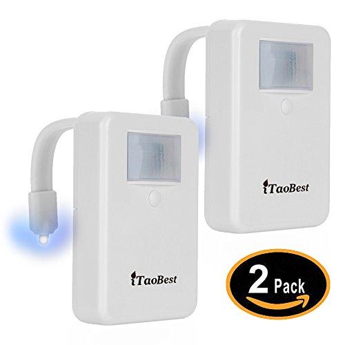 [拡張]トイレナイトライト:iTaobest モーションアクティベート トイレボウル ナイトライト 色、ライト検出器、モーションセンサー付き ITBL004