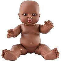 HiPlay ベビー ドール アフリカ 新生児 赤ちゃん リアル 黒い肌 黒人 人形 モデル 模型 子供のおもちゃ ベビーケア トレーニング 『妊婦?育児?産科?教育』サイズ?性別?選択可能 (30cm?ベビー)
