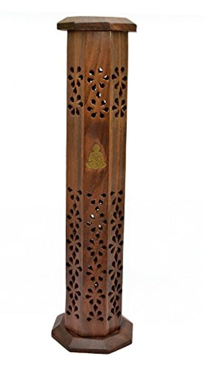 専門化する原稿引退するNewquay-Bonsai Sheesham Wood Tower Incense Burner - Thai Buddha Incense Stick Holder by Newquay-Bonsai