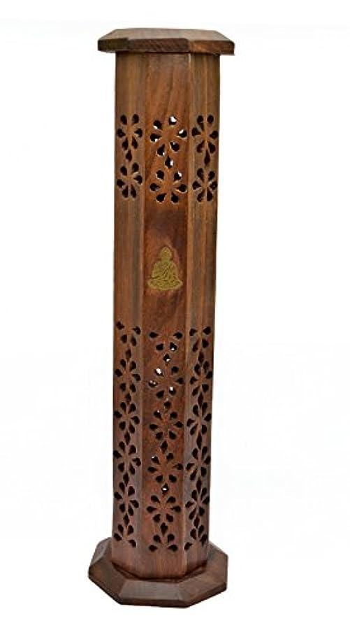 感じるカストディアンアクチュエータNewquay-Bonsai Sheesham Wood Tower Incense Burner - Thai Buddha Incense Stick Holder by Newquay-Bonsai