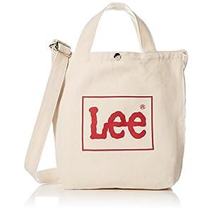 [リー]ショルダーバッグ Lee BOXロゴプリント コットンキャンバス(帆布) 2WAYトートバッグ レッド