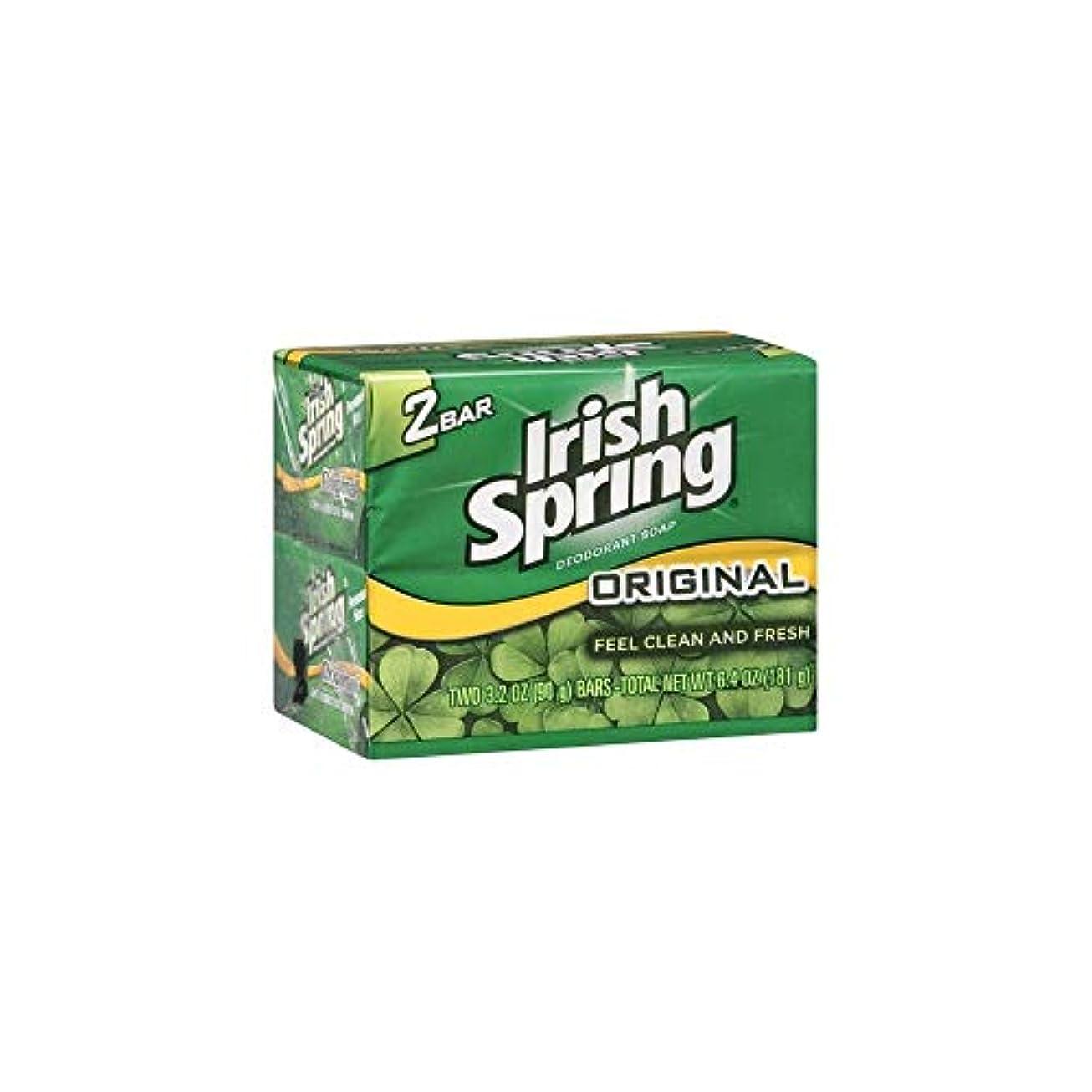 葉っぱ遊び場柔和Irish Spring 石鹸3.2オズバー 4つのバー
