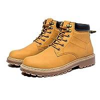 [Greeeeat] マーティンブーツ デザートブーツ ショートブーツ スエードブーツ メンズ ワークブーツ カジュアルシューズ 紳士靴 ビジネス 革靴 防滑 通勤用 PUレザー 24.5cm~27cm