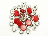 【箱売り】ジャンパーホック 小 赤 φ13mm|足の長さ5mm 1000ヶ EGB75004-07-1000 [協進エル] レザークラフト用金具