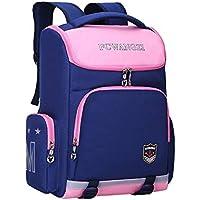 School Bags Kids Backpack Toddler Backpack Waterproof Lightweight Backpack Book Bag for Primary School Girls/Boys 14inch Laptop - Big TXOZ (Color : A)