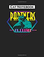 Cat Notebook: cat reading book meow  College Ruled - 50 sheets, 100 pages - 7.44 x 9.69 inches