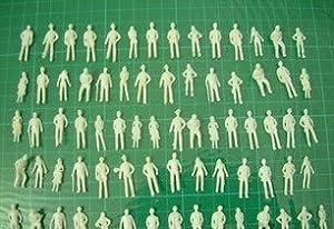 プライザー ジオラマ 模型 人 ミニフィギュア 100体セット プラモデル 鑑賞 Nゲージ 1:100
