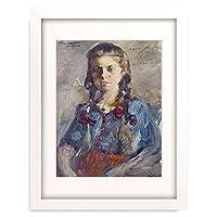 ロヴィス・コリント Lovis Corinth 「Wilhelmine with hair in braids. 1922」 額装アート作品