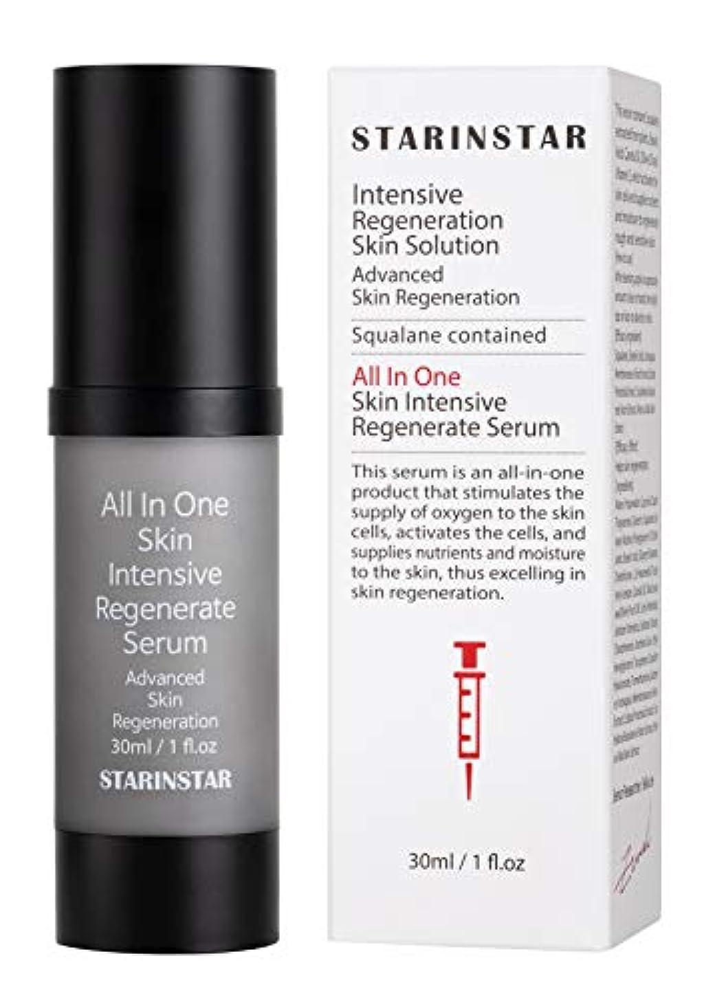 変なレジ動かす[STARINSTAR] All In One Skin Intensive Regenerate Serum, オールインスキンインテンシブリジェネレートセラム、高度なスキンリジェネレーションソリューション、植物性スクアラン...
