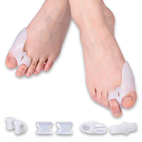 外反母趾ケア 足指矯正サポーター 1セット8個入り 指間ジェルパッド 足指分離パッド 親指ジェルパッド 内反母趾用 外反母趾対策 疲労解消 バランス改善 美脚効果 痛みの緩和 男女兼用