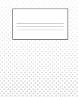 """WHITE COMPOSITION NOTEBOOK: Primary Ruled Notebook Lined School Journal 