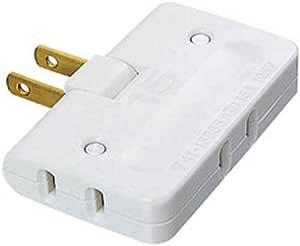 【2003年モデル】ELECOM 電源タップ 両サイド+下方向 3個口 ホワイト T-TR3WH