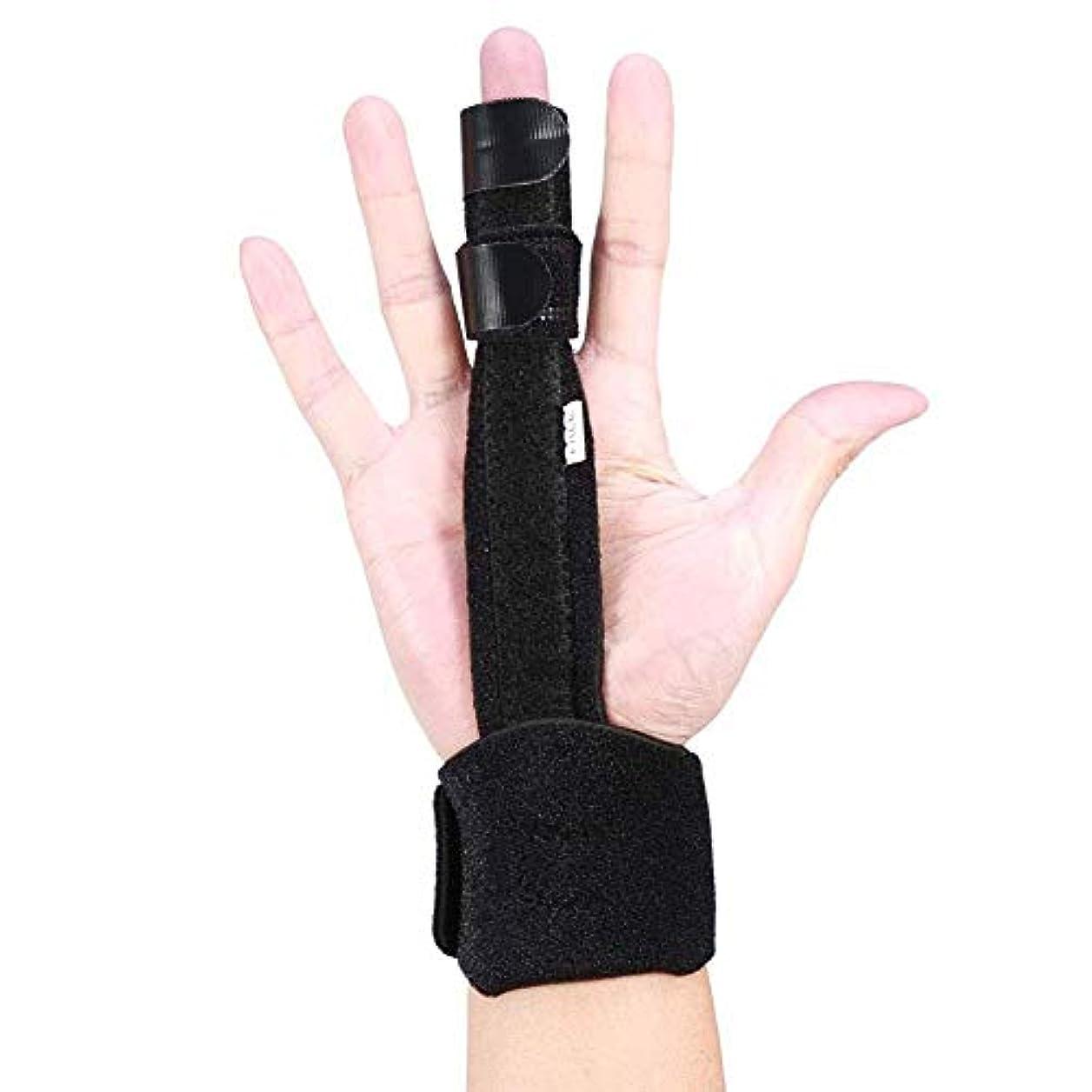 一目ラウンジ簡略化する指の負傷のサポート、調整可能なアルミニウム製の指の副木手サポートの回復サポート保護傷害の援助