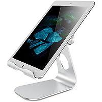 """【史上最強安定性】タブレット スタンド 角度調節可能 iPad 卓上スタンド iPad Pro 充電スタンド iPhone スタンド スマホスタンド アルミ合金素材 OMOTON Tablet Stand Designed for iPad pro 12.9, 9.7, 10.5, air mini 1 2 3 4 Kindle, Nintendo Switch, iPhone x 8 7 6s plus, Samsung&Huawei Devices (4~13"""")"""