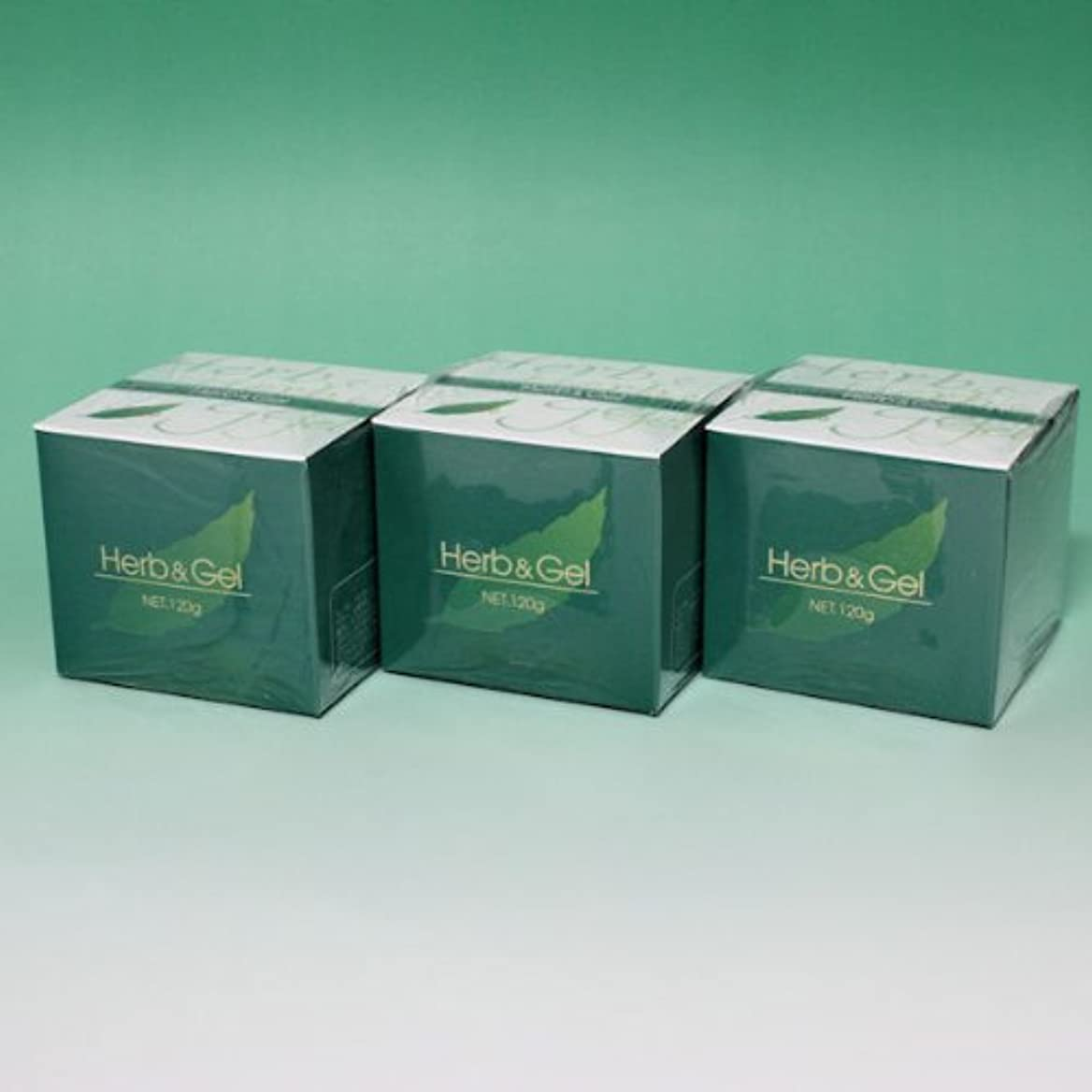 古くなった過激派魅惑的なハーブアンドゲル 天然ハーブエキス配合 120g×3瓶セット (4580109490026)