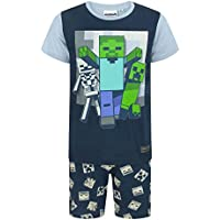 Minecraft Undead Boy's/Kids Short Navy Pyjamas Set