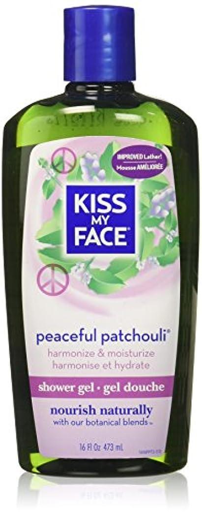 魔法申し立てる珍しい海外直送品Kiss My Face Bath & Shower Gel Peaceful Patchouli, 16 Oz