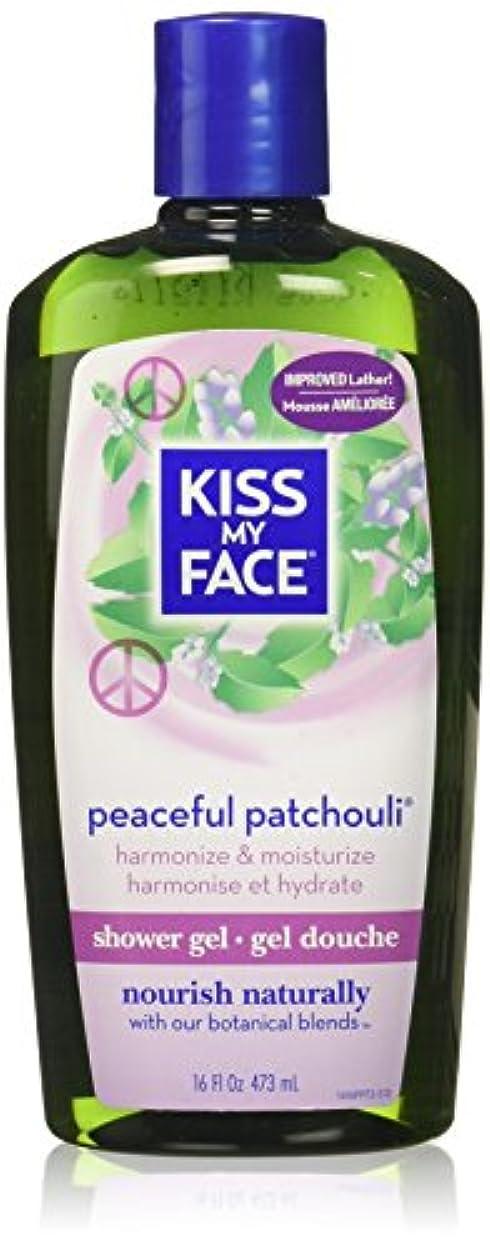 副液体安らぎ海外直送品Kiss My Face Bath & Shower Gel Peaceful Patchouli, 16 Oz