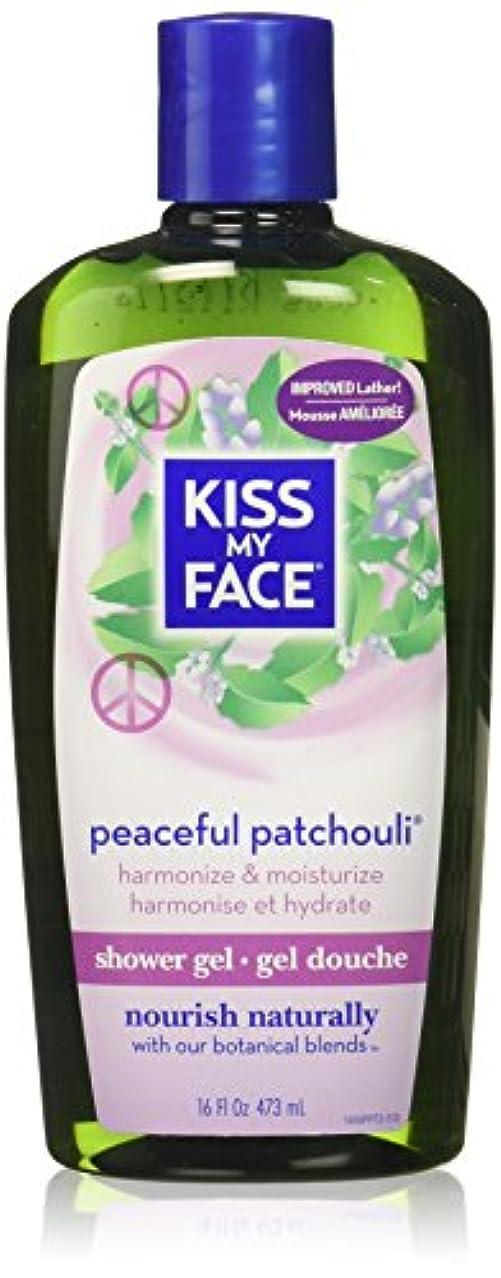 十分な水っぽい抜本的な海外直送品Kiss My Face Bath & Shower Gel Peaceful Patchouli, 16 Oz