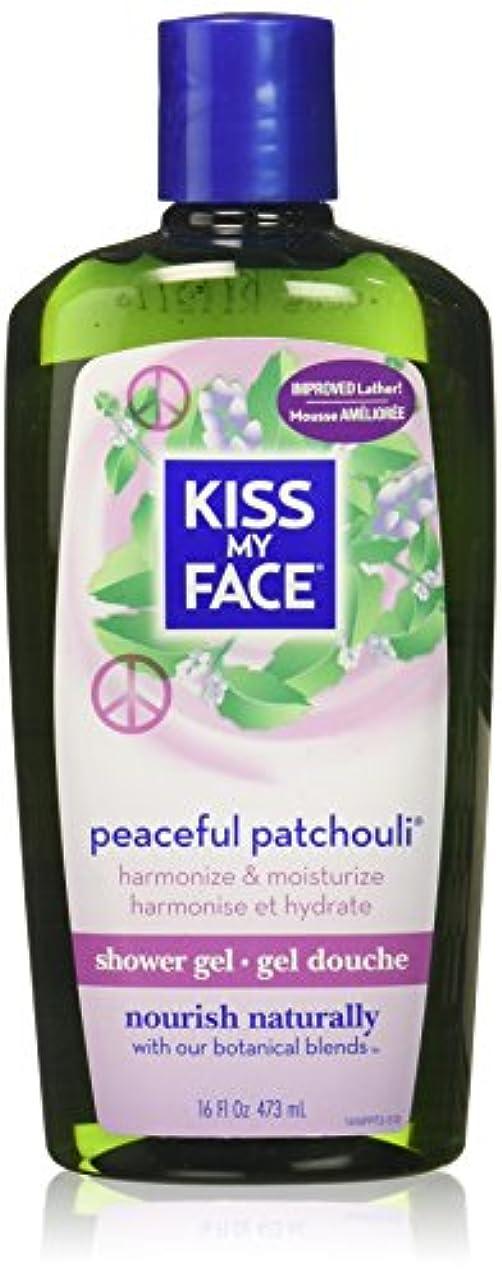 リラックスした地震リラックスした海外直送品Kiss My Face Bath & Shower Gel Peaceful Patchouli, 16 Oz