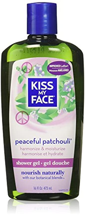 欺帳面悪夢海外直送品Kiss My Face Bath & Shower Gel Peaceful Patchouli, 16 Oz