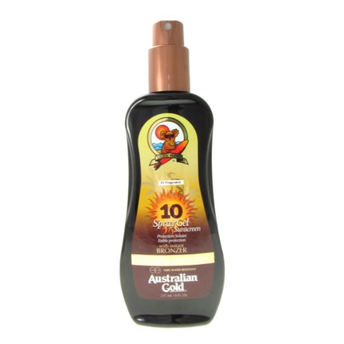 巧みなテザーライセンスAustralian Gold Spray Gel Spf10 Instant Bronzer 237ml [並行輸入品]