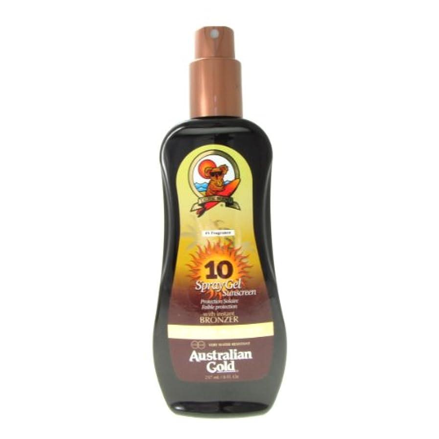 三番モンクアレルギー性Australian Gold Spray Gel Spf10 Instant Bronzer 237ml [並行輸入品]