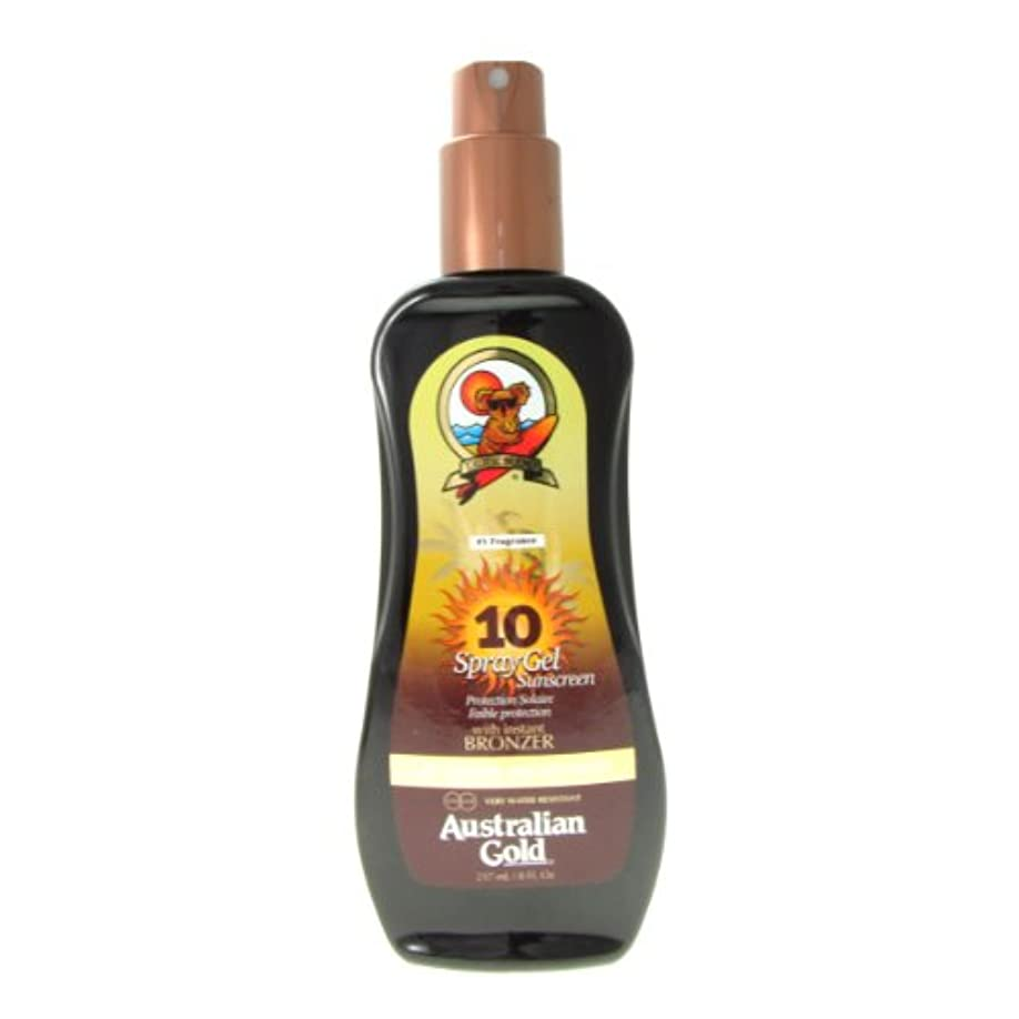 分散思い出させる発見Australian Gold Spray Gel Spf10 Instant Bronzer 237ml [並行輸入品]