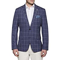 Van Heusen Men's Casual Blazer Navy Window Check