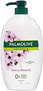 Palmolive Naturals Milk and Cherry Blossom Body Wash with Moisturising Milk 0 percentage Parabens Recyclable,
