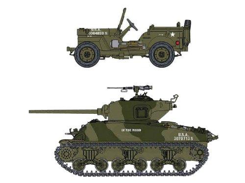 1/72 アメリカ軍 1/4トン 4WD トラック & M4A1(76)W VVSS シャーマン